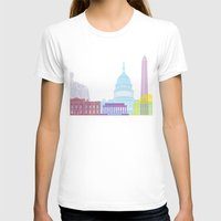 washington dc T-shirts featuring Washington DC skyline pop by Paulrommer