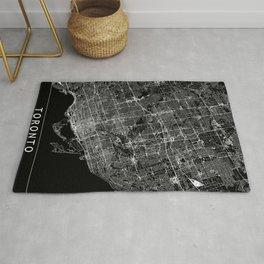 Toronto Black Map Rug