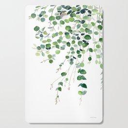 Eucalyptus Watercolor Cutting Board