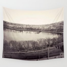 1858 Providence Cove, Grand Point, College Hill Photograph, Providence, Rhode Island Wall Tapestry
