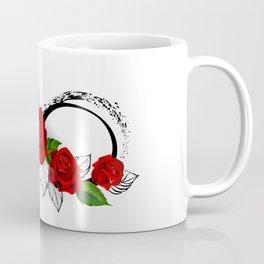 Infinity Symbol with Red Roses Coffee Mug