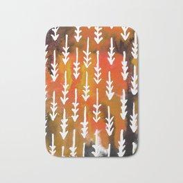 Orange Arrows Bath Mat