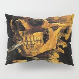Van Gogh, Skull of a Skeleton with Burning Cigarette  – Van Gogh,Vincent Van Gogh,impressionist,post Pillow Sham