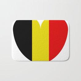 Belgium flag with heart Bath Mat