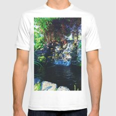 Little Waterfall  Mens Fitted Tee MEDIUM White