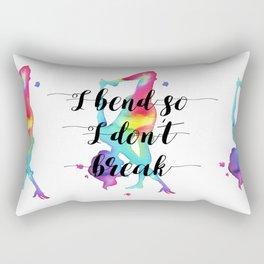 I bend so I don't break Rectangular Pillow