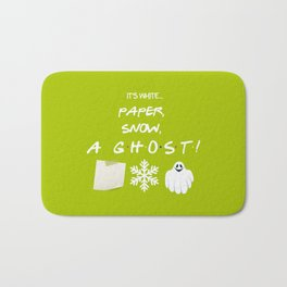 """Paper, Snow, A Ghost!"" - Friends TV Show Bath Mat"