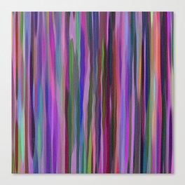 Swimming Stripes, Purple Canvas Print