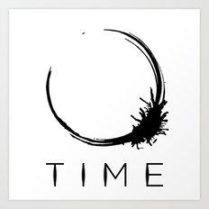Arrival - Time Black Art Print