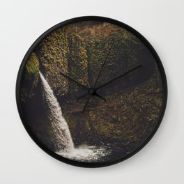 Ponytail Falls Wall Clock