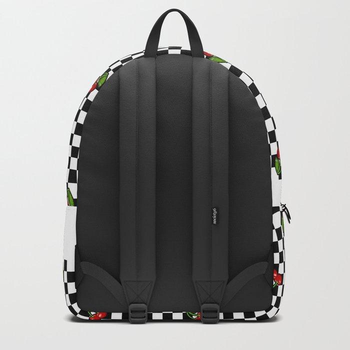 Checkered Cherries Backpack