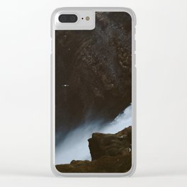 Skogafoss II Clear iPhone Case