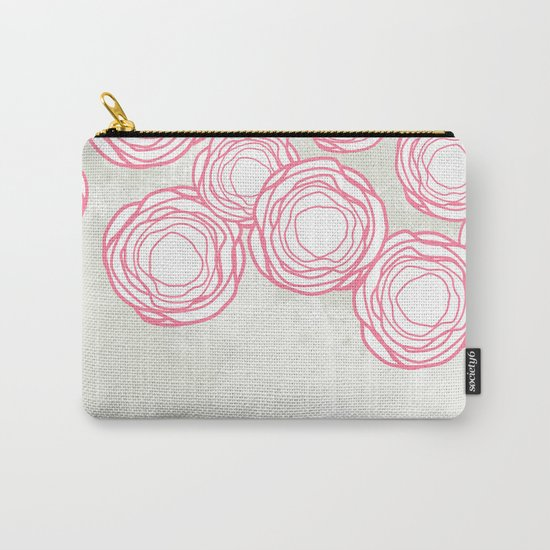 Beautiful Abstract Flowers Pattern Carry-All Pouch