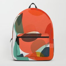 Abstract Shapes Pattern Be Kind Backpack