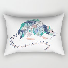 Flowered Rat Rectangular Pillow