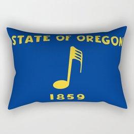 Musical Oregon State Flag Rectangular Pillow