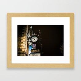 Clock in Grafton street, Dublin Framed Art Print
