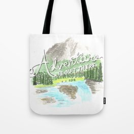 """""""Adventure is Out There!"""" - Up, Pixar Tote Bag"""