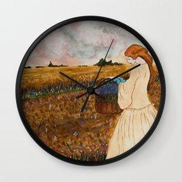Prinsessa i overgivet vetefalt Wall Clock