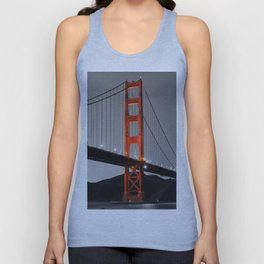 Golden Gate Bridge in Selective Black and White Unisex Tank Top
