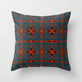 Digital Embroidery Vintage Celtic Geometric Texture Print Throw Pillow