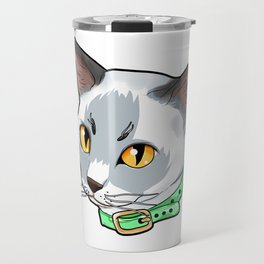 Tonkinese cat Face Cats funny cute white gift Travel Mug