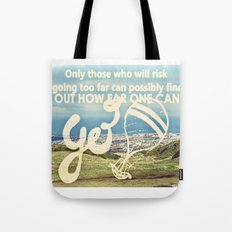 Adventure Quote, hot air balloon Tote Bag