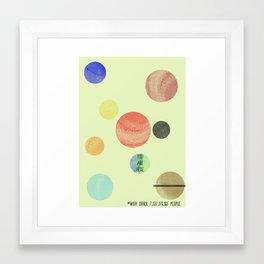 Minimal Solar System #3 Framed Art Print