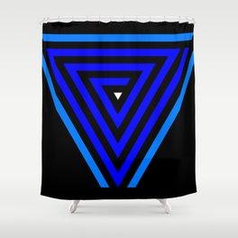 Vainessum - blue integration Shower Curtain