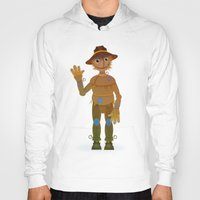 oz Hoodies featuring OZ - Scarecrow by Drybom