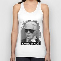 karl Tank Tops featuring KARL WHO? by Wink