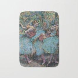 Edgar Degas - Three Dancers (Blue Tutus, Red Bodices) Bath Mat