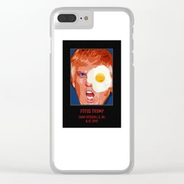 POTUS Trump in history. Clear iPhone Case