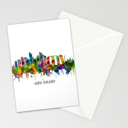 Abu Dhabi UAE Skyline Stationery Cards