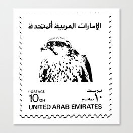 10 AED UAE STAMP Canvas Print