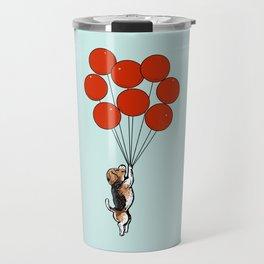 I Believe I Can Fly Beagle Travel Mug
