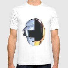 Daft Punk Polygon MEDIUM Mens Fitted Tee White