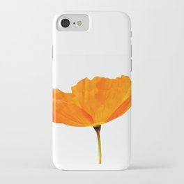 One And Only - Orange Poppy White Background #decor #society6 #buyart iPhone Case