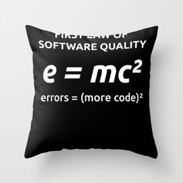 First Law Of Software Quality for Developer Coder Throw Pillow