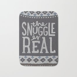 the snuggle is real Bath Mat