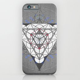 Merkaba Blueprint Sacred Portal Print iPhone Case