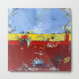 Deerfield Red Yellow Blue Abstract Art Primary Colors Metal Print