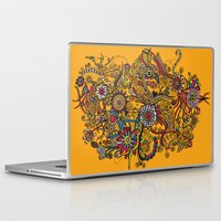 leah flores Laptop & iPad Skins featuring Flores by Cris Couto