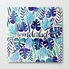Tropical Wanderlust – Blue Metal Print