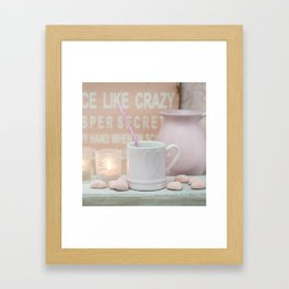 Pastel Pink Scandi-chic Still Life Framed Art Print