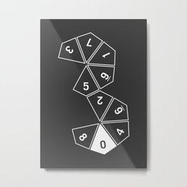 Grey Unrolled D10 Metal Print