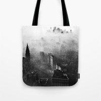 vampire weekend Tote Bags featuring Hannah Hunt - Vampire Weekend by HUDSON DESIGNS