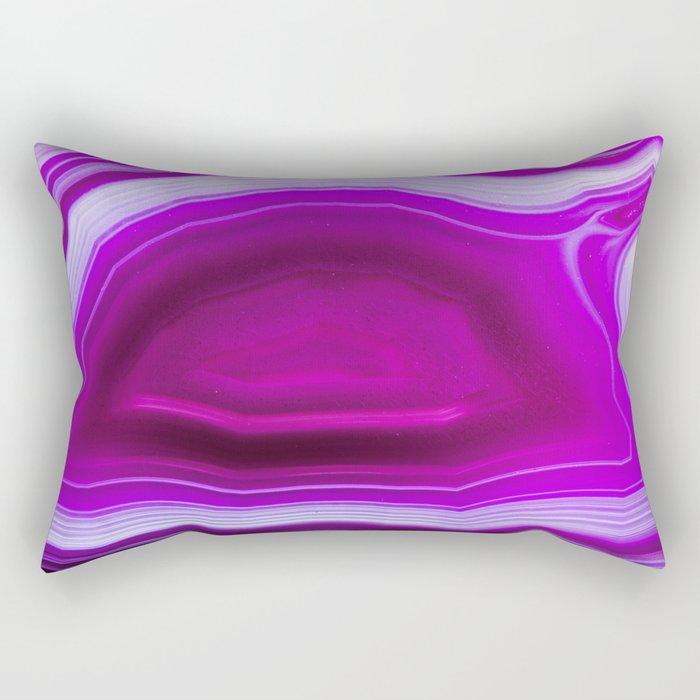 Pink agate Geode Rectangular Pillow