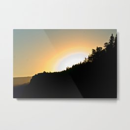Crown Point Sunrise Metal Print