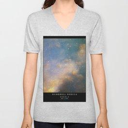 NASA Hubble Space Telescope Poster - The Dumbell Nebula Unisex V-Neck